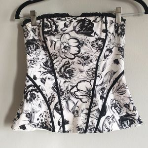 Strapless paisley top